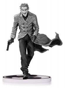 Figurine grise et noire du Joker - sur socle dccollectibles