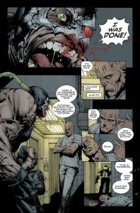 David Finch - Bane hurlant sa rage à la face de Calendar Man
