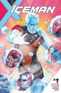 Couverture d'Iceman #1 par Kevin Wada