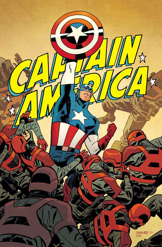 Chris Samne - Captain America #695
