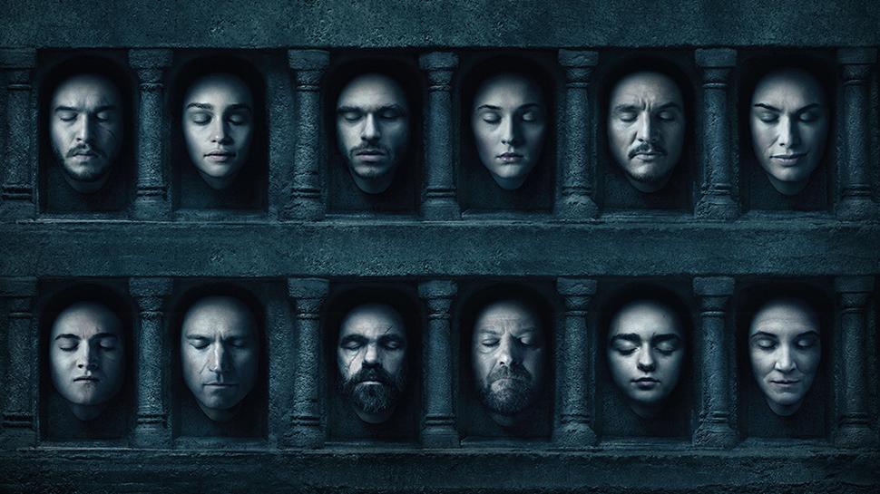 Poster montrant les nombreux personnages de la saga