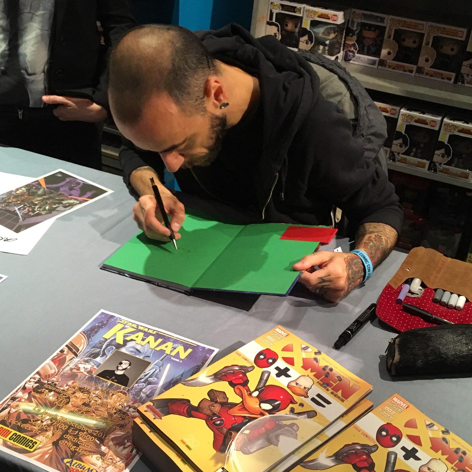 Jacopo Camagni dédicace Album comics