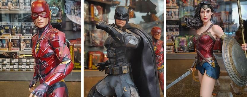 DC Collectibles - Flash, Batman and Wonde Woman