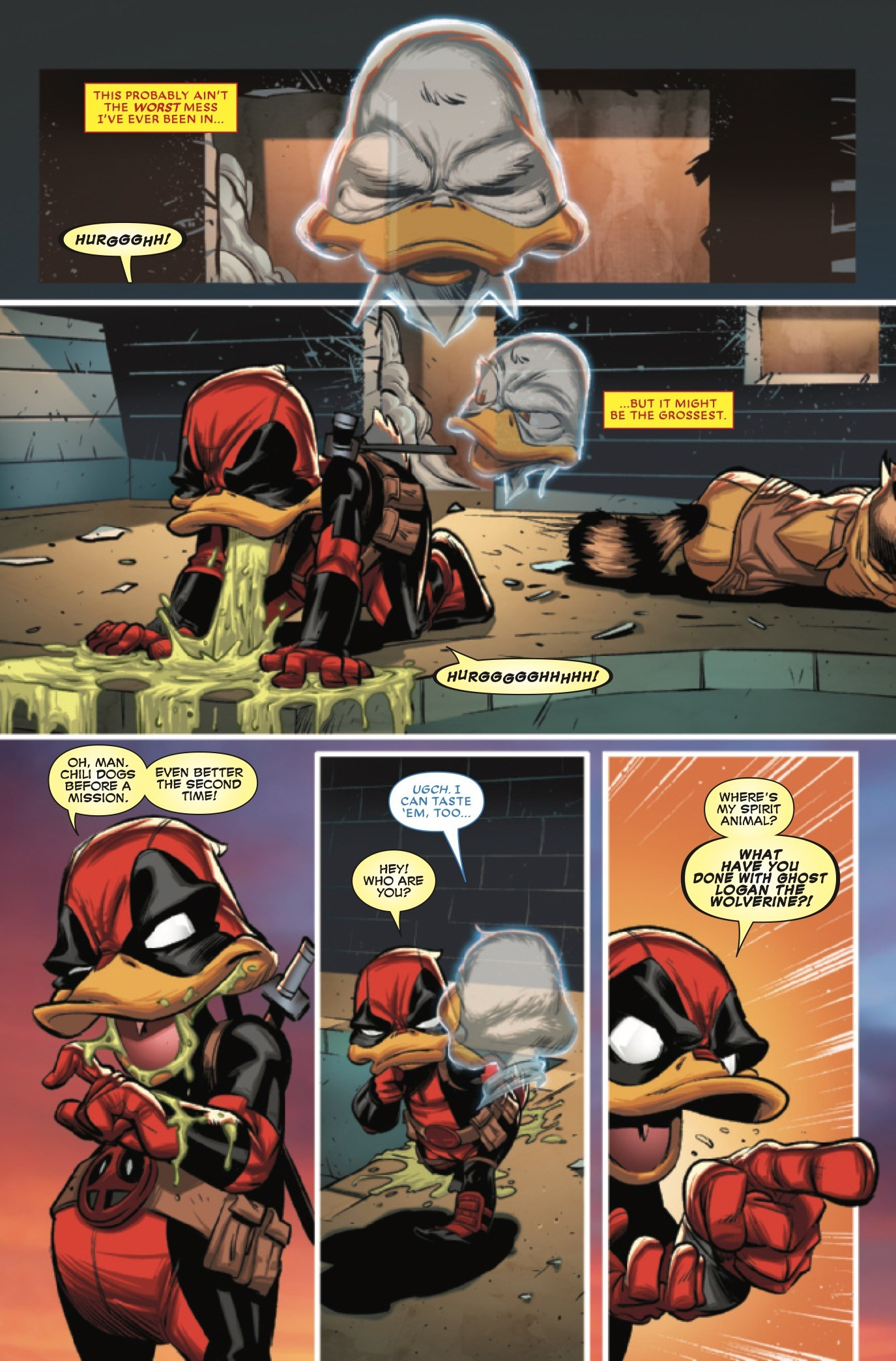Deadpool the Duck. Oh my! That's a lot of pucking!