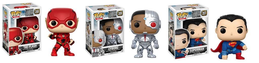 Pop figurines - Flash, Cyborg and Superman