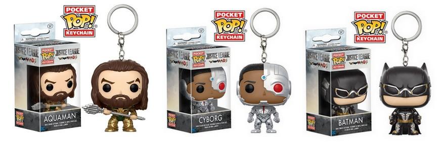 Pop keychain - Aquaman, Cyborg and Batman